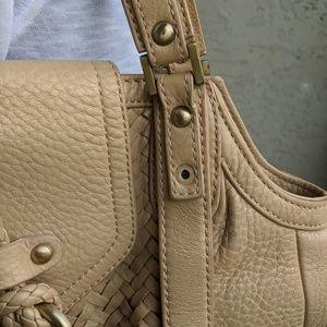Cole Haan Bags - Cole Haan gold woven big satchel